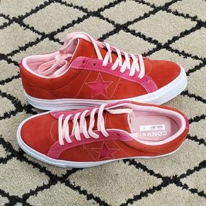 Converse One Star Enamel Red Pink Po
